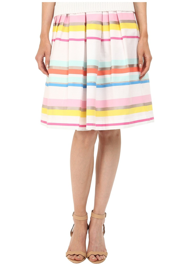 dfe7ee2ee SALE! Kate Spade Kate Spade New York Ribbon Cape Stripe Pleated Skirt