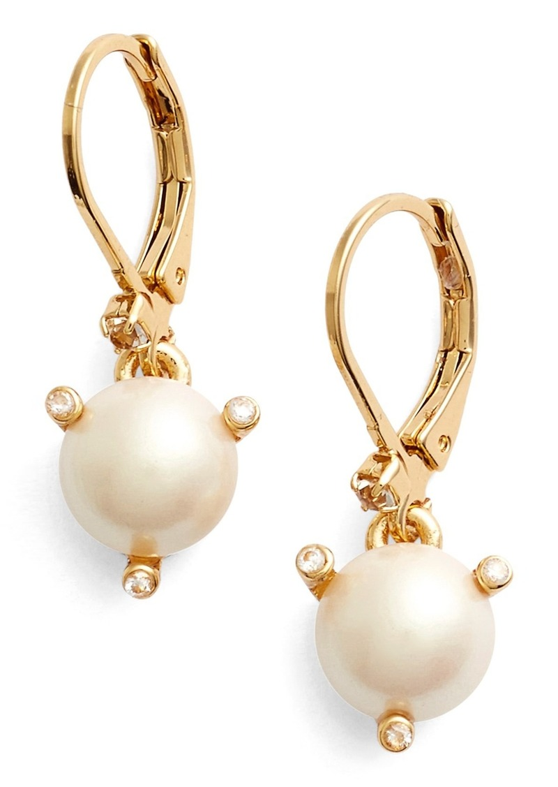 Kate Spade New York Rise And Shine Faux Pearl Lever Back Earrings