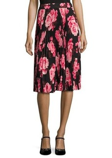 kate spade new york rosa floral pleated chiffon skirt