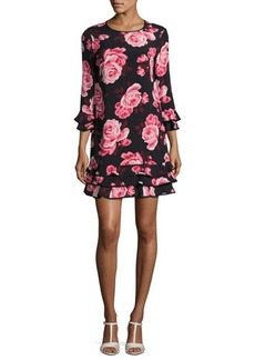 kate spade new york rosa floral tiered ruffle shift dress