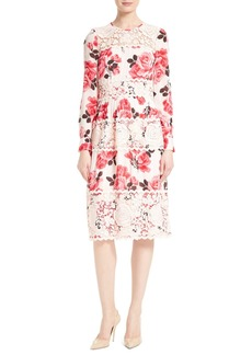 kate spade new york rosa lace appliqué midi dress