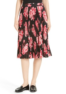 kate spade new york rosa pleated midi skirt