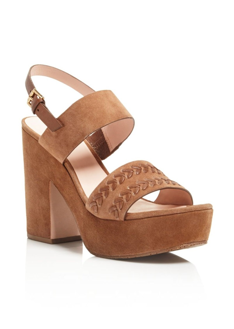 kate spade new york Rosa Stitched Platform High Heel Sandals