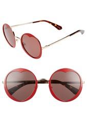 kate spade new york rosaria 53mm heart cutout lens sunglasses