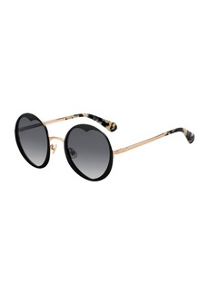 kate spade new york rosarias round heart metal sunglasses