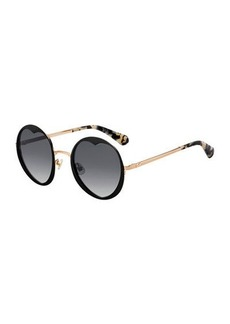 Kate Spade rosarias round heart metal sunglasses