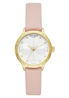 kate spade new york rosebank scallop leather strap watch, 32mm
