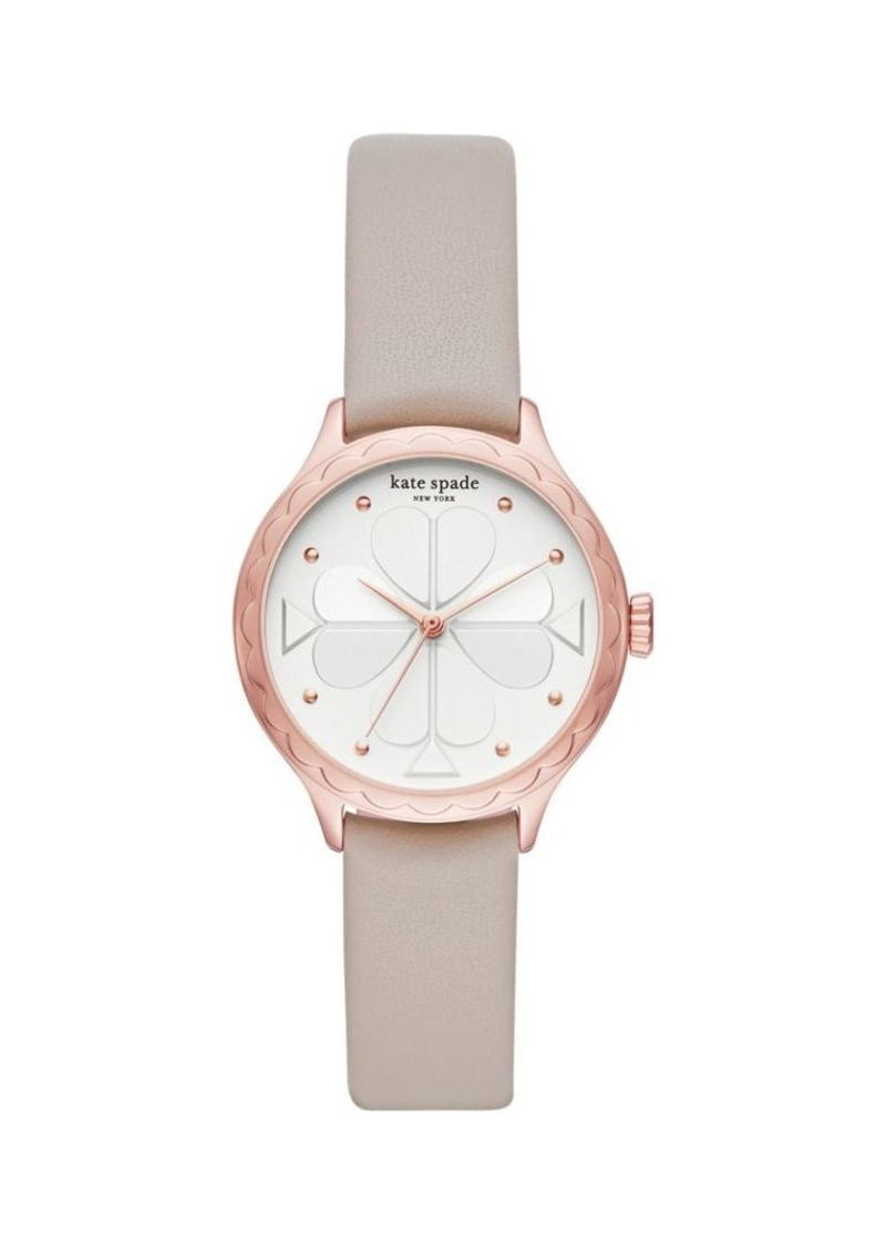 Kate Spade New York Rosebank Warm Taupe Leather Watch