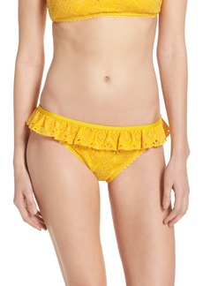 kate spade new york ruffle bikini bottoms