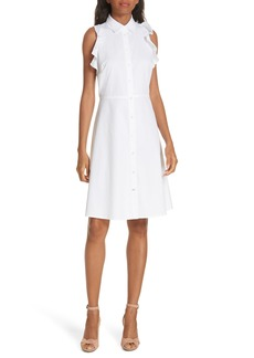 kate spade new york ruffle cotton poplin dress