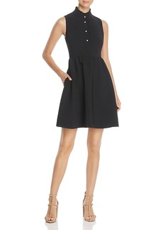 kate spade new york Ruffle Crepe Shirt Dress