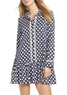 kate spade new york ruffle hem sleep shirt