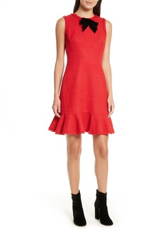 kate spade new york ruffle hem tweed dress