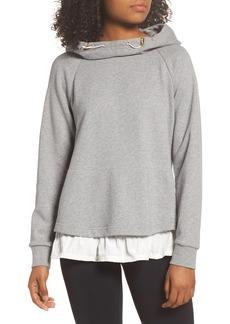 kate spade new york ruffle hoodie sweatshirt