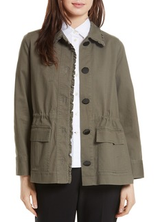 kate spade new york ruffle military jacket