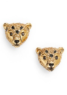 kate spade new york run wild cheetah stud earrings