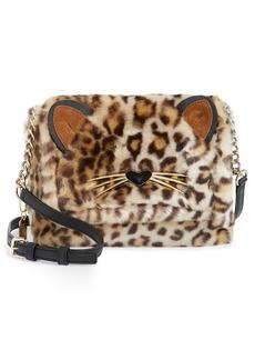 kate spade new york run wild faux fur shoulder bag/muff