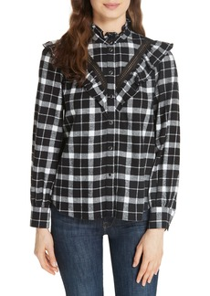 kate spade new york rustic plaid flannel shirt