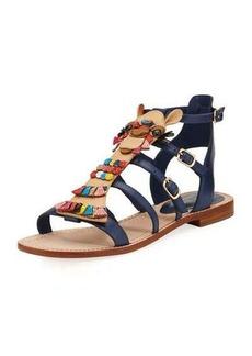 kate spade new york sahara embellished flat gladiator sandal