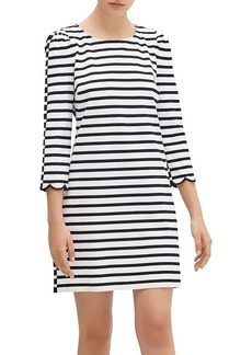 kate spade new york Sailing Stripe Scallop-Cuff Dress