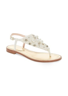 kate spade new york sama embellished thong sandal (Women)
