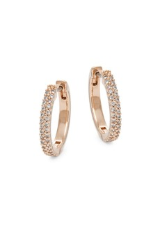 Kate Spade New York Save the Date Pavé Huggie Hoop Earrings