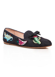 kate spade new york Saville Embroidered Denim Loafers