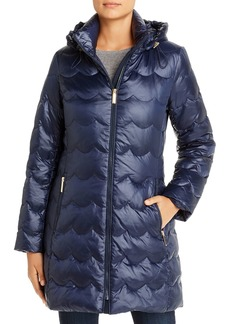 kate spade new york Scallop-Quilted Puffer Coat