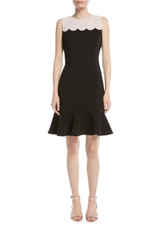 Kate Spade scallop sleeveless mini dress