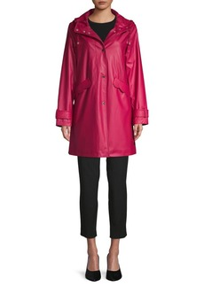 Kate Spade New York Scallop-Trimmed Hooded Jacket