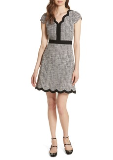 kate spade new york scallop tweed dress