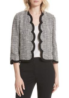 kate spade new york scallop tweed jacket