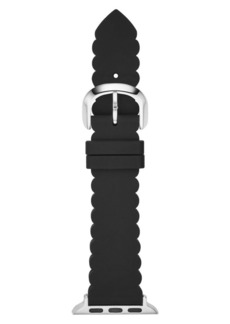 Kate Spade New York Black Scallop Silicone 42/44mm Band for Apple Watch®