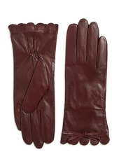 Kate Spade New York Scalloped Leather Gloves