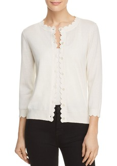 kate spade new york Scalloped Trim Cardigan