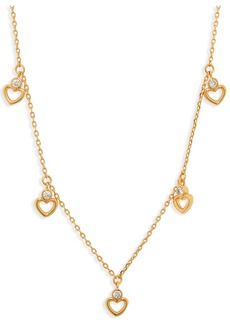 kate spade new york scatter heart shaker necklace