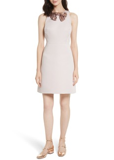 kate spade new york sequin bow A-line dress