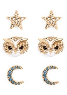 kate spade new york set of 3 things we love night sky stud earrings