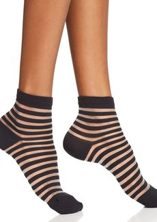 kate spade new york Sheer Stripe Ankle Socks