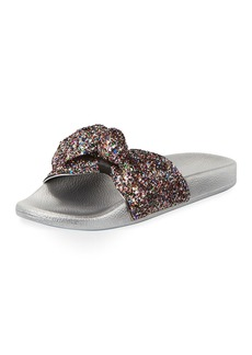 Kate Spade shellie glitter slide pool sandal