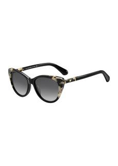 kate spade new york sherylyn two-tone cat-eye sunglasses