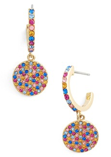 kate spade new york shine on pavé drop earrings