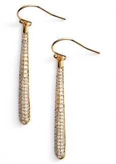 kate spade new york shine on pavé linear drop earrings