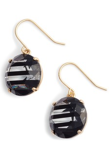kate spade new york shine on stripe drop earrings