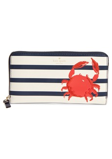 kate spade new york shore thing - crab embellished leather wallet