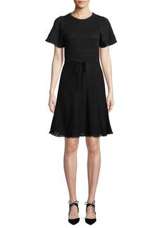 Kate Spade short-sleeve cotton sweater dress