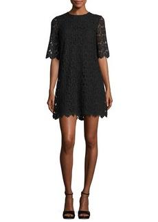 kate spade new york short-sleeve daisy lace shift dress