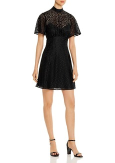 kate spade new york Short-Sleeve Leopard-Lace Dress