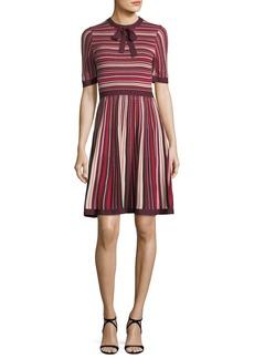 kate spade new york short-sleeve multi-stripe sweater dress