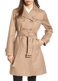 kate spade new york signature back bow trench coat
